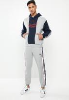 adidas Originals - Off court trefoil track top - medium grey heather & legend ink