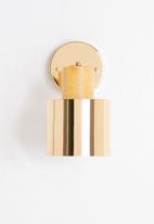 Sixth Floor - Etsy wall light - gold