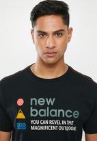 New Balance  - Nb athletics trail tee - black
