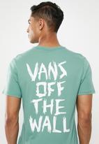 Vans - Scratched vans short sleeve tee - blue/green