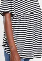 Superbalist - Babydoll top - black & white