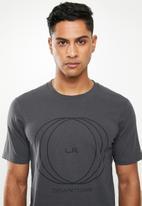 Cotton On - La circles Tbar text T-shirt - grey