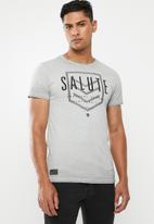 S.P.C.C. - Reverse dirty dye logo tee - grey