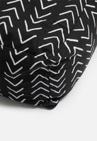 Sixth Floor - Herringbone floor cushion - black & white