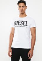 Diesel  - T-diego-logo maglietta - white