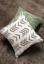 Sixth Floor - Maia cushion cover - white & black