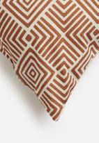Hertex Fabrics - Geomaze cushion cover - clay