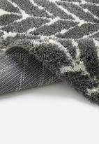 Fotakis - Blizz shaggy runner - grey chevron