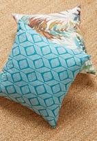 Grey Gardens - Nandi cushion cover - aqua