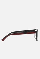 Emporio Armani - Clear lens with matte black sunglasses 54mm - black