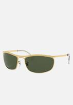 Ray-Ban - Olympian sunglasses 62mm - crystal green/arista
