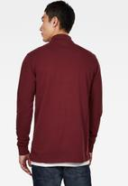 G-Star RAW - Core long sleeve polo - burgundy