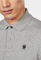 G-Star RAW - Core polo long sleeve T-shirts - grey