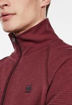 G-Star RAW - Jirgi zip long sleeve sweats  - burgundy