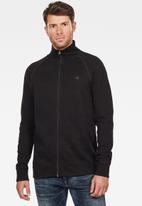 G-Star RAW - Jirgi zip long sleeve sweats  - black