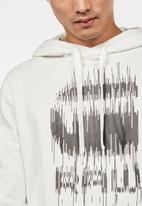 G-Star RAW - Graphic long sleeve hoodie  - cream
