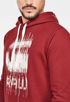 G-Star RAW - Graphic  long sleeve hoodie  - red