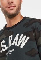 G-Star RAW - Graphic crew long sleeve sweats  - multi