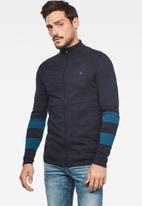 G-Star RAW - Zip through cardigan long sleeve knitwear  - blue