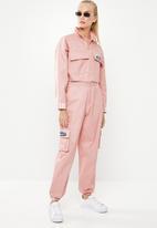 adidas Originals - Cropped tracktop - pink