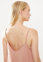 Superbalist - Lace detail sleep cami -  dusty pink