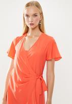 POLO - Darci ruffle dress - orange
