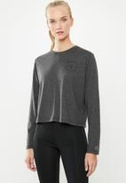 New Balance  - Relentless heather long sleeve - grey