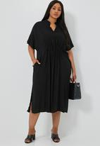 Superbalist - Waist detail kaftan dress - black