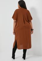 Superbalist - Waist detail kaftan dress - rust