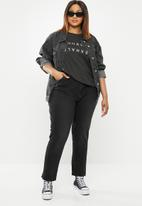 Cotton On - Curve graphic tee inhale exhale - black