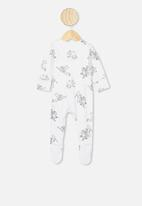 Cotton On - The long sleeve zip romper - white