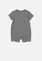 Cotton On - The short sleeve romper - black & white