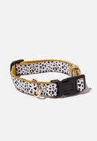 Typo - Pet collar - black & mustard