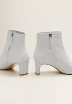 MANGO - Marcus leather ankle boot - white