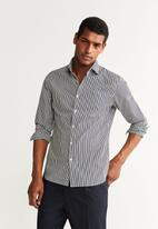 MANGO - Sela shirt - black & white