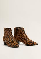 MANGO - Bruc leather ankle boot - brown
