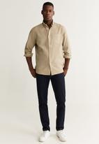 MANGO - Oxdye shirt - neutral