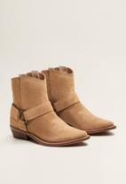 MANGO - Tambor leather ankle boot - brown