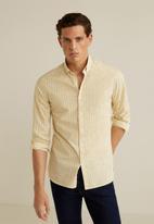 MANGO - Java shirt - yellow