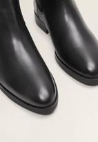 MANGO - Staple leather chelsea boot - black