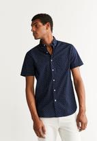 MANGO - Henry shirt - navy