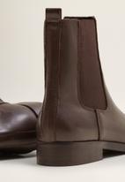 MANGO - Staple leather chelsea boot - dark brown