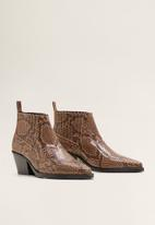 MANGO - Roma 1 leather ankle boot - brown