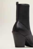 MANGO - Tierra leather ankle boot - black