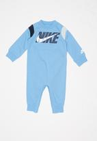 Nike - Nike baby colour block coverall - blue