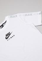 Nike - Nike air max tee  youth - white & grey