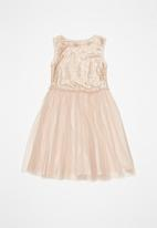 POP CANDY - Sequin combo party dress - pink