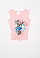 POP CANDY - Girls tie front Minnie Mouse tee - pink