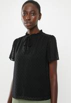 New Look - Dobby tie detail shirt - black