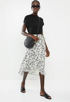 New Look - Louisa wrap midi skirt - cream